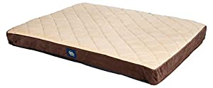 B014SS8S3KLYC Serta Orthopedic Quilted Pillowtop Dog Bed, X-Large, Brown