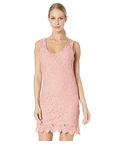 Jack by BB Dakota Junior's Grow with it Stretch lace Shift Dress, Rosette Pink, Medium