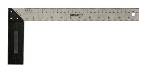 Johnson Level & Tool 1910-1200 Plastic Handle Try, (12' Plastic Handle)