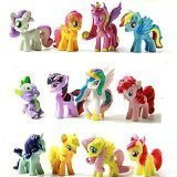 Top Valu 12pcs My Little Miss Pony Colorful Cupcake Cake Topper PVC Action Figures Kids Girl Toy Dolls Decoration Birthday Function Party Cake Kitchen Dish Plate Table Decoration Figure by Top Valu (Miss Cake My Little Pony)