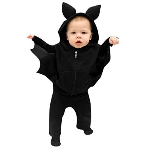 Halloween Newborn Baby Girl Clothes Ruffle Romper Top Suspender Pumpkin Bat Ghost Skirt Outfit Set (Rain The Little Girl And My Letter)