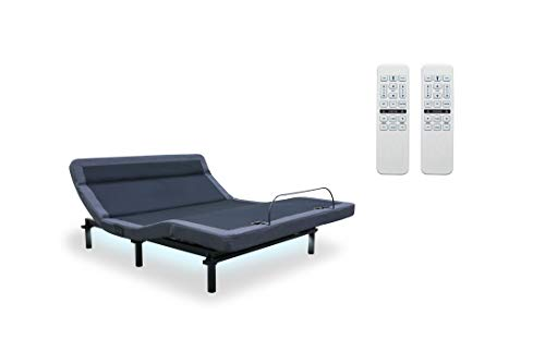 Leggett & Platt New Adjustable Bed! The Williamsburg Plus, 4 Motors, Independent Head Tilt, Dual Massage, Head & Foot Articulation, WallHugger, USB Port, UnderBed Lighting (King w/Setup)