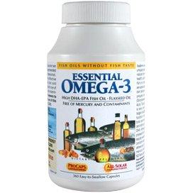 Essential Omega-3 - No Fishy Taste - Orange 600 Softgels by Andrew Lessman