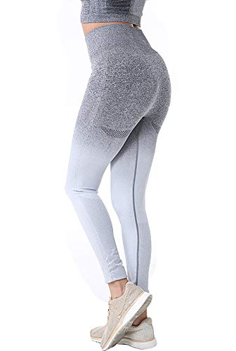 Lucuna Women's Yoga Pants Hight Waist Leggings Elastic Tight Body Tape Pockets Fitness Non-See Through from Lucuna