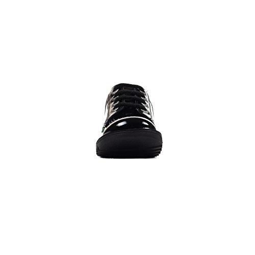 Kickers Lo Kickers Verni Cuir Noir Junior Chaussures Classique Fille École 5EEnq1R