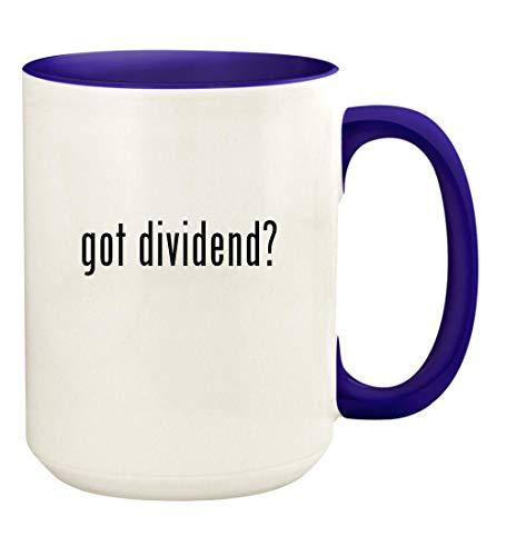 got dividend? - 15oz Ceramic Colored Handle and Inside Coffee Mug Cup, Deep Purple