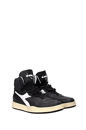 Sneaker Diadora Heritage MI Basket 84 Used Nero-Bianco 158569 nero