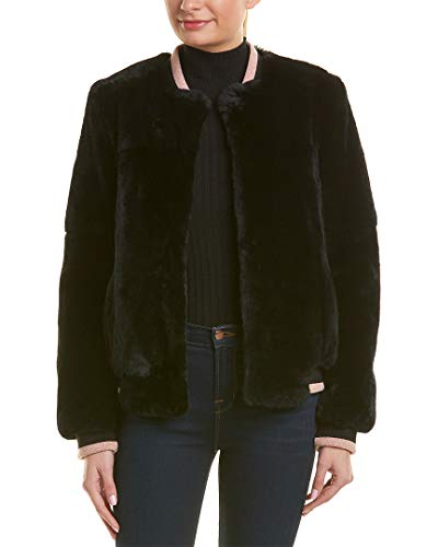 Yves Salomon Womens Wool-Blend Jacket, 32, Black ()