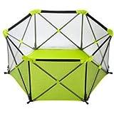 X-Jang ベビーサークル 育児、赤ちゃん フェンス 、折りたたみ 収納 、高さ66cm 安全、六角形 倒れにくい。6ヶ月~3歳半対象、誕生日プレゼント。専用のキャリーバッグ付! (緑)