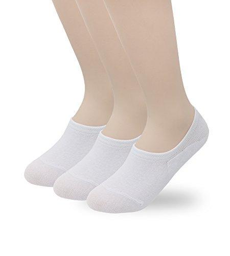 3721ee4c8de Eedor Women s 3 Pairs Thin Casual Low Cut No Show Socks Non-Slip Hidden  Invisible