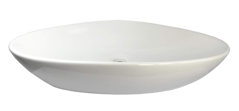 Ceramic Washbasin Oval 59 cm L x 39 cm W