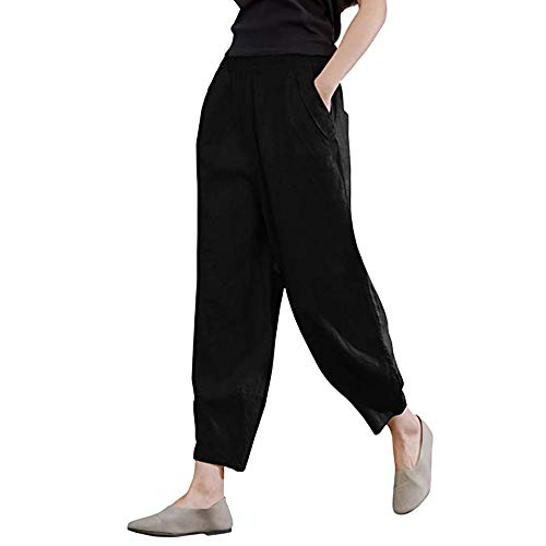 2018 Women's Casual Pants,Linen Lantern Tapered Elastic Waist with Pockets Trousers by-NEWONESUN (Kameez Trouser)