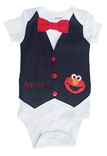 1st Birthday Baby Boy Outfit Elmo Vest -