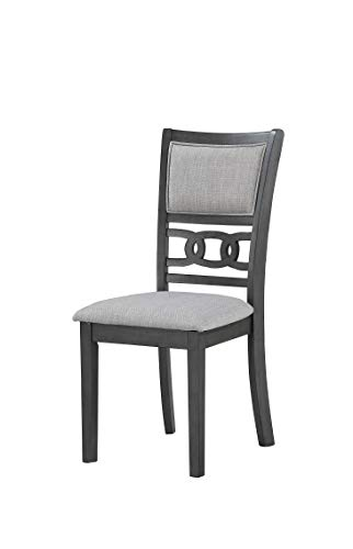 New Classic Furniture Gia Round Dining Set, Gray - Expertly constructed of Mindi and rubber wood solids and veneers Finished in a rich ebony color versatile with any Décor Reverse Diamond match veneer tops - kitchen-dining-room-furniture, kitchen-dining-room, dining-sets - 31Rtndi8gTL -