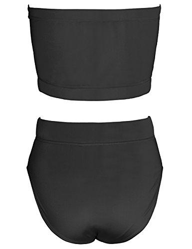 ISASSY - Conjunto - ajustado - Clásico - Sin mangas - para mujer negro
