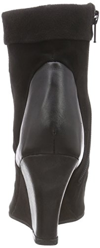 Black Lily Ladonna Wedges, Women's Unlined Classic Boots Half Length Black (Black - Black)