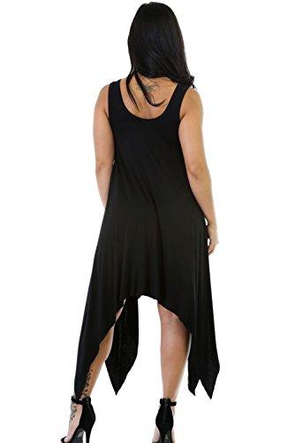 blackflare simétrico Bodycon Vestido De Midi Club Wear TAMAÑO S UK 8–�?0