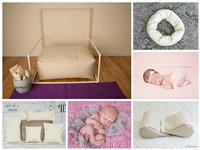 STARTER SET #24 ~ Rectangulum Poser, Full SizePVC Backdrop stand, Squishy Poser, Doughnut Poser, & Set of 5 Posey Positioners ~ NEWBORN PHOTO PROP by Posey Pillow