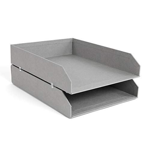 - Bigso Hakan Stackable Letter Tray, Grey