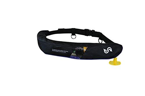 高階救命器具 自動膨張式救命胴衣 ウエストベルトタイプ BSJ-5520RS ブラック×ブルーの商品画像