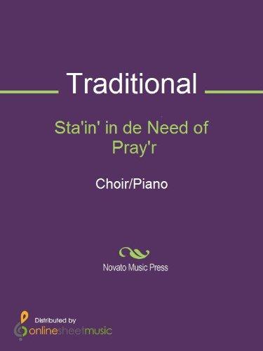 Sta'in' in de Need of Pray'r - Score (Sta Music)