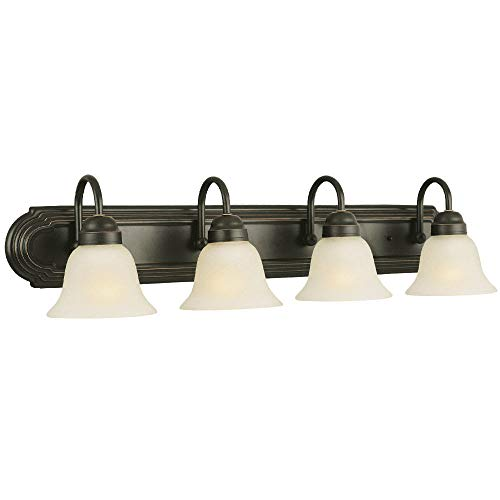 Design House 506626 Allante 4 Light Vanity Light, Oil Rubbed - Light 4 Vanity Casa