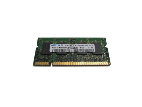 (Samsung M470T6554EZ3-CE6 1x512MB DDR2-667 PC2-5300 SODIMM Laptop RAM)