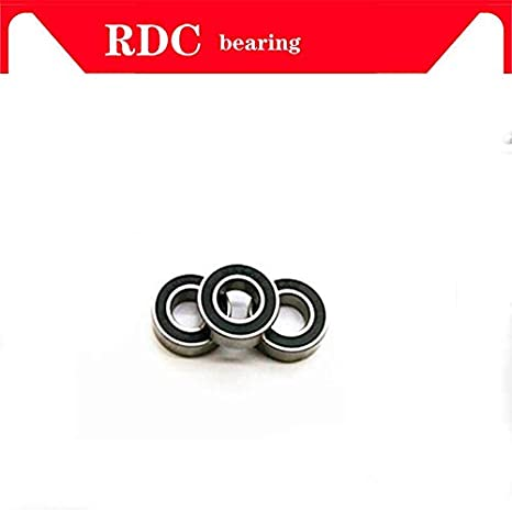 Ochoos 30pcs ABEC-5 6201 2RS 6201RS 6201-2RS 6201 RS 12x32X10 mm Double Rubber Seal Groove Ball Bearing for Bicycle hubs Length: ABEC 3