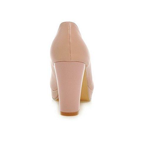 kengät Ympäri Suljetun Allhqfashion Pinkki Toe Naisten Pull Korkokenkiä Pehmeä Kiinteä Materiaali pumppuihin AZvxvUwHnq