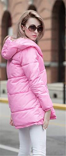 Désinvolte Épaissir Doudoune Femme Mode Battercake Manteau À Large Capuchon Outdoor Hiver Warm Quilting Manches Chic Longues Rose Blouson Elégante gpxZwqZf