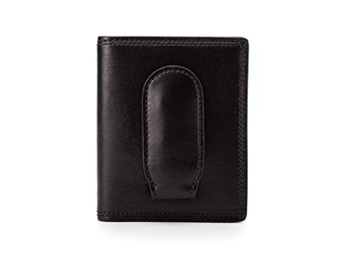 Bosca Dolce Old Leather Front Pocket Wallet with Magnet Close (Black)