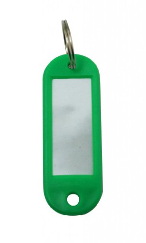 Yongshida Key Fobs Luggage ID Tags with Key Ring Color Green Pack of ()