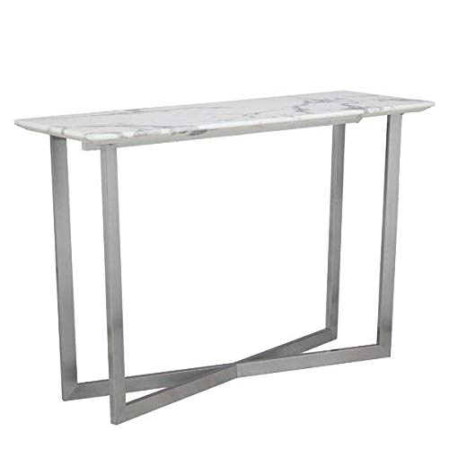 Powder Coated Iron Base and Marble Top Console Table + Free Basic Design Concepts Expert Guide
