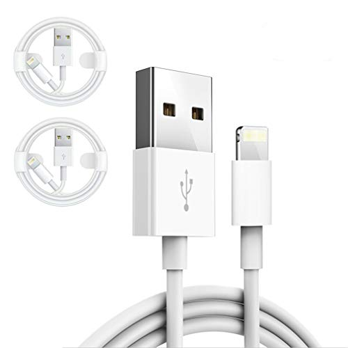 PRLANYDAR-(2 Pack 1M/3.3FT)-iPhone/iPad Charger Cable, [Original Charger]Lightning Cable Charging Cord USB Charger Cable Compatible with iPhone 12 11 XS X 8 7 6 5