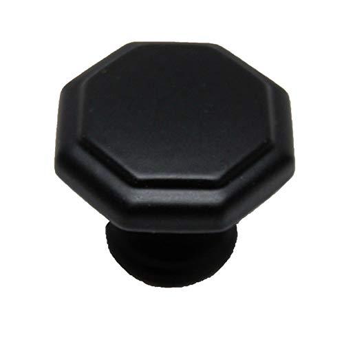Keystone Accents Flat Matte Black 1-3/16'' Octagon Cabinet Knob K392