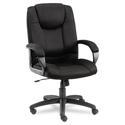 Logan Series High-Back Mesh Swivel / Tilt Office Chair, Black - Quality Office Chairs with Arms, with Comfortable Back Support - Ideal Executive Office Chair, Managerial Chair, Computer Chair or Home Office Chair by Alera
