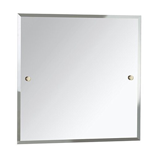 Bristan COMP MRSQ G Square Mirror, Gold, 600 x 600 -