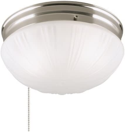 Westinghouse 6721000 Two Light Flush Mount Interior Ceiling Fixture With Pull Chain Brushed Nickel Finish With Frosted Fluted Glass 2 Pack Amazon Com