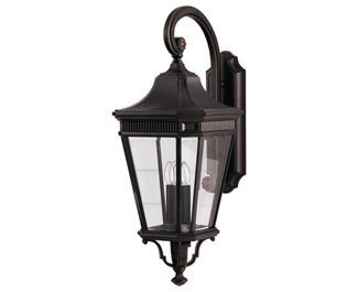 Feiss OL5404GBZ-LED Cotswold Lane LED Outdoor Patio Lighting Wall Lantern, Bronze, 1-Light (12''W x 30''H)
