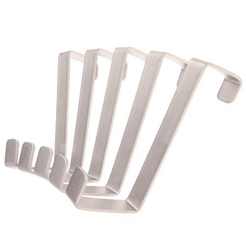4smile Over the Door Hook 10 pack - Made in Germany - stainless steel door hangers do not bend - reversible over the door hanger, no drilling necessary - door hooks extra-strong – heavy duty
