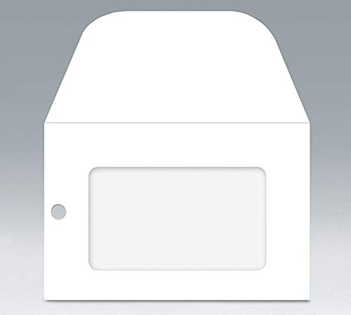 - 50ct WHITE Florist Enclosure Card ENVELOPES with Eyelet and Window - Mini Small 3