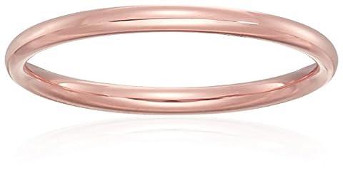 Standard Comfort-Fit 14K Rose Gold Band, 2mm, Size 7 (Man Ring Gold 14k)