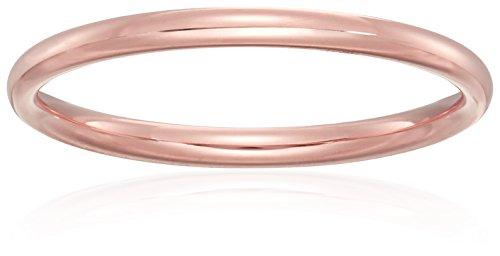 Standard Comfort-Fit 14K Rose Gold Band, 2mm, Size 4.5