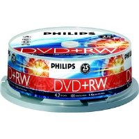 PHILIPS DW4S4B25F/17 25PK 4X DVD+RW by Philips