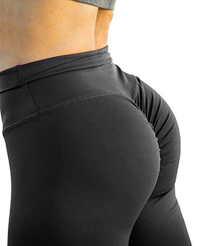 Fittoo Women Butt Lift Ruched Yoga Pants Sport Pants Workout Leggings Sexy High Waist Trousers