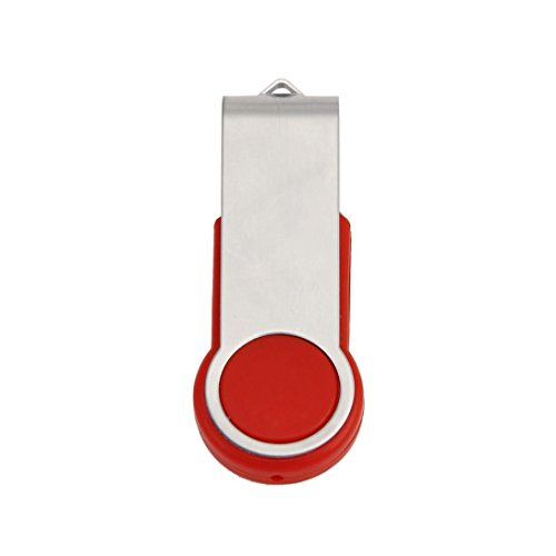 Alonea 2 IN 1 Swivel USB 2.0 OTG Metal Flash Memory Stick Storage Thumb U Disk 1GB/2GB/4GB/8GB/16GB/32GB/64GB (2GB, Red) ()