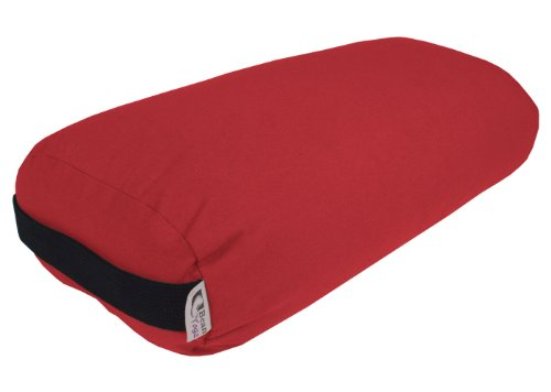 Bean Products Bolster Rectangle Yoga & Meditation Cushion - Made In The USA Burgundy Duck