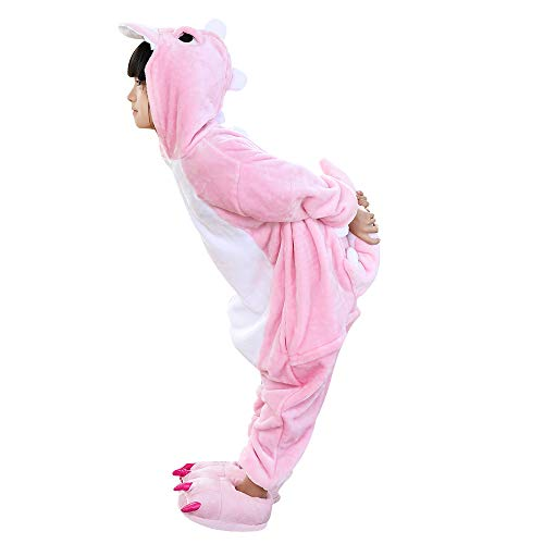 Kids Dinosaur Onesie Pajamas Halloween Costume Child Cosplay Pyjama Pink 2-3 Years]()