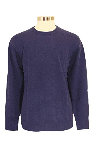 Shephe 4 Ply Men's Round Neck Cashmere Sweater Grey Marine - Neck Round Cashmere Sweater