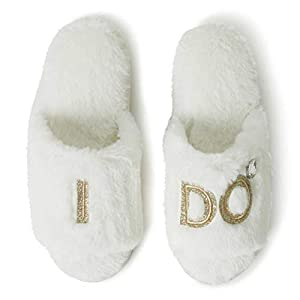 Best Epic Trends 31Ru6nMlbzL._SS300_ Dearfoams Women's Bridal I Do & I Do Crew Giftable Slide Slipper